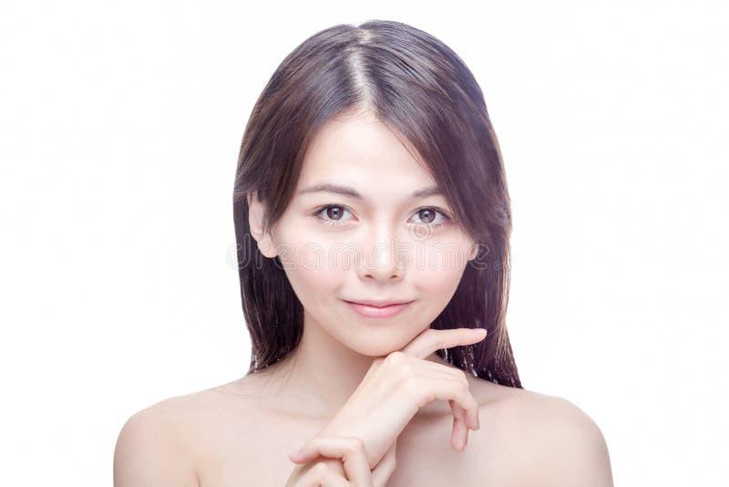 Retrato asiático da beleza da mulher fotografia de stock