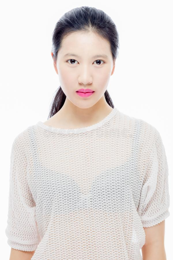 Retrato asiático da beleza da menina do adolescente fotos de stock royalty free