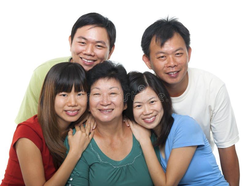 Retrato asiático da família fotografia de stock