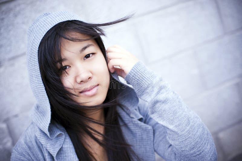 Retrato asiático da menina foto de stock