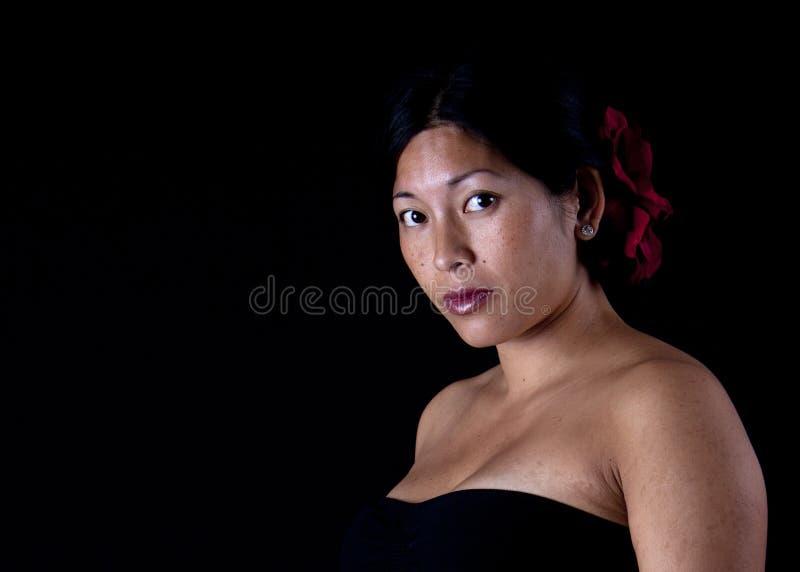 Retrato asiático da mulher foto de stock