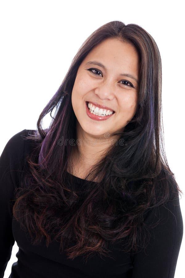 Retrato asiático da mulher fotografia de stock royalty free