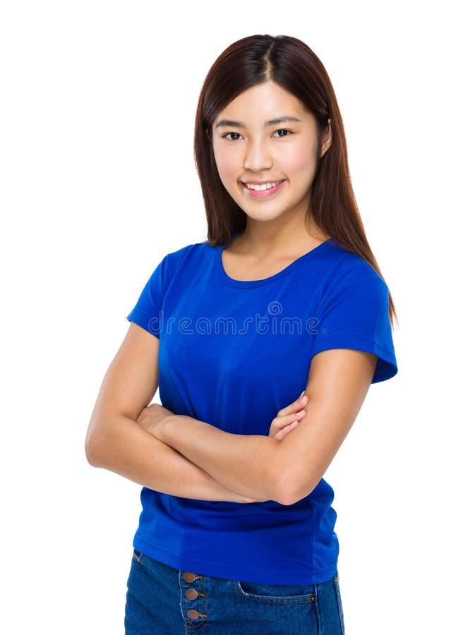 Retrato asiático da mulher fotografia de stock