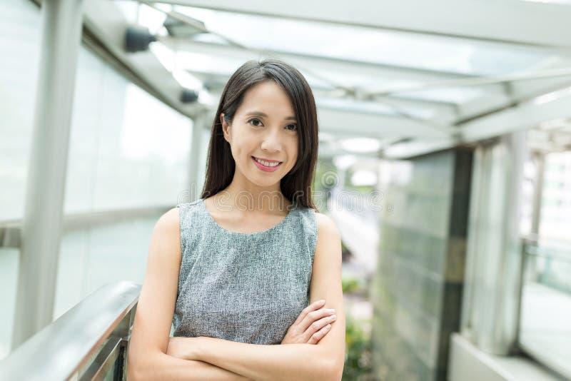 Retrato asiático da mulher de negócio imagem de stock royalty free