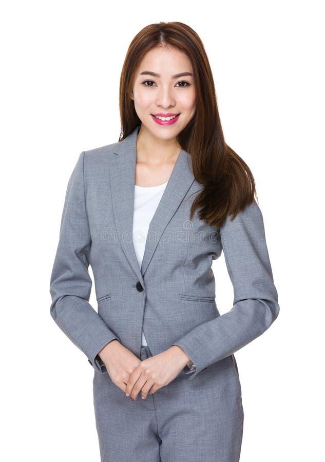 Retrato asiático da mulher de negócios imagem de stock