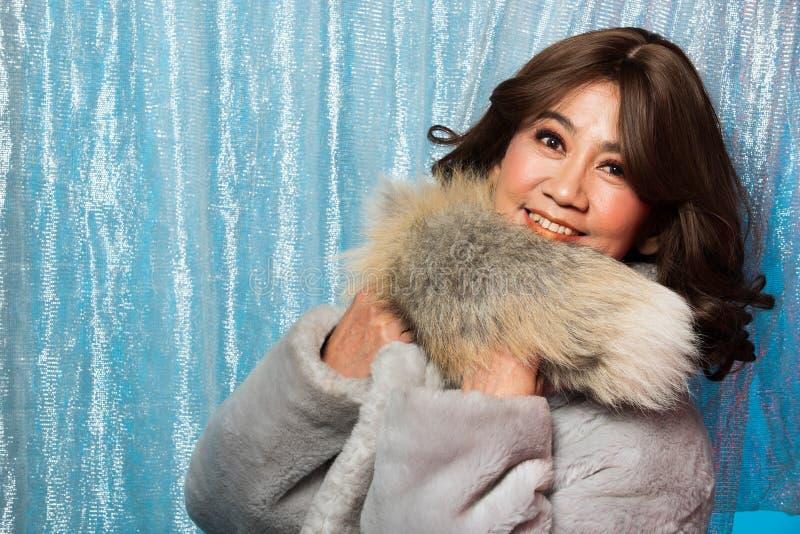 retrato asiático da mulher da forma velha dos anos de 50s 60s fotografia de stock royalty free