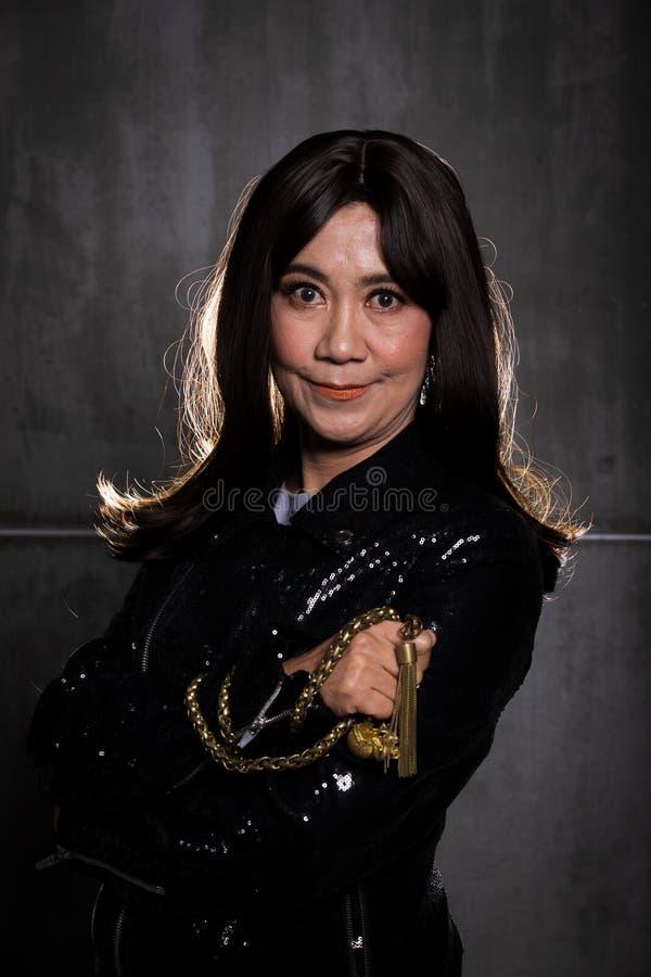 retrato asiático da mulher da forma velha dos anos de 50s 60s fotos de stock royalty free