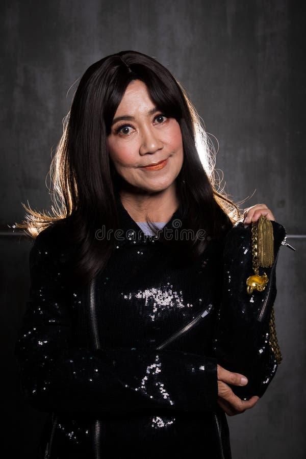 retrato asiático da mulher da forma velha dos anos de 50s 60s foto de stock royalty free