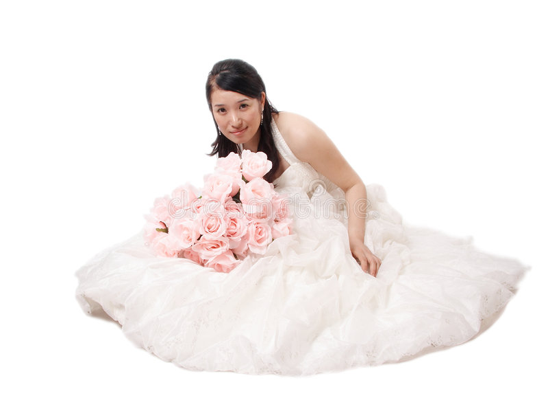 Retrato asiático da noiva imagens de stock