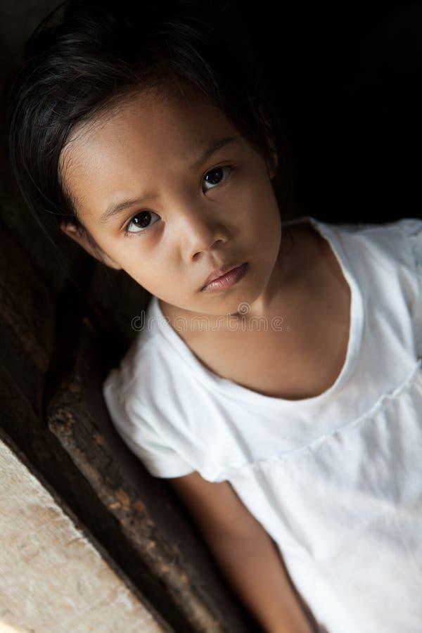 Retrato asiático da rapariga imagens de stock