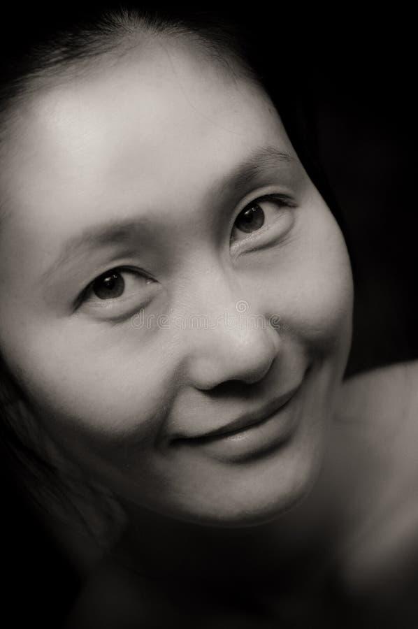 Retrato asiático de la mujer foto de archivo