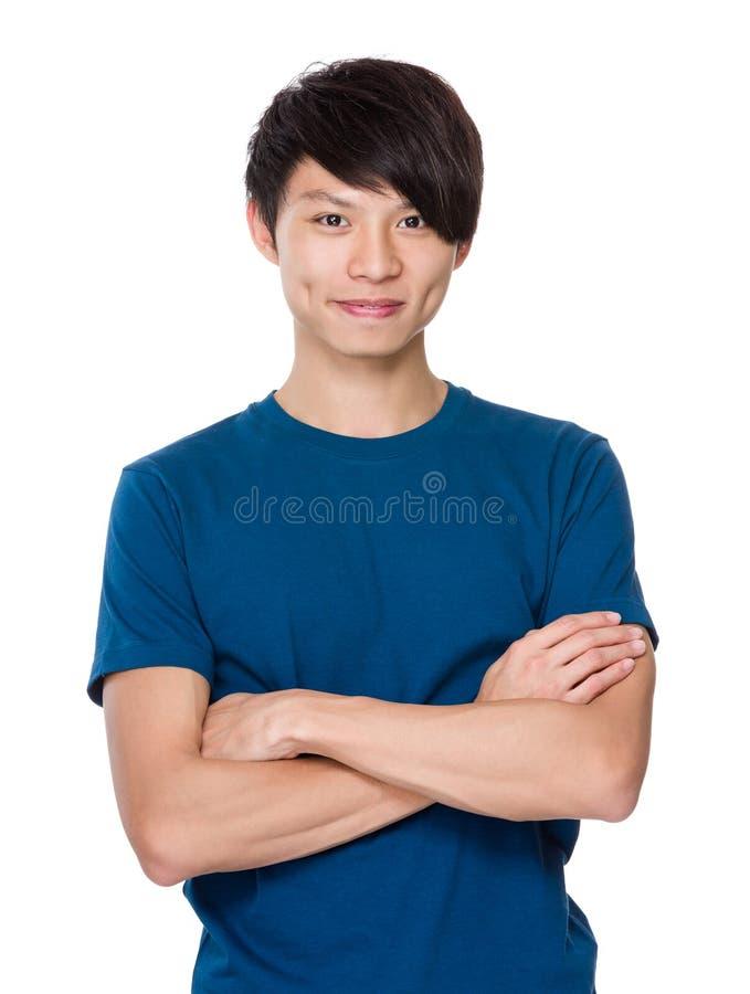 Retrato asiático do homem fotografia de stock royalty free