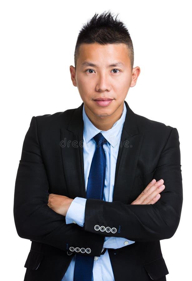 Retrato asiático do homem de negócios fotografia de stock