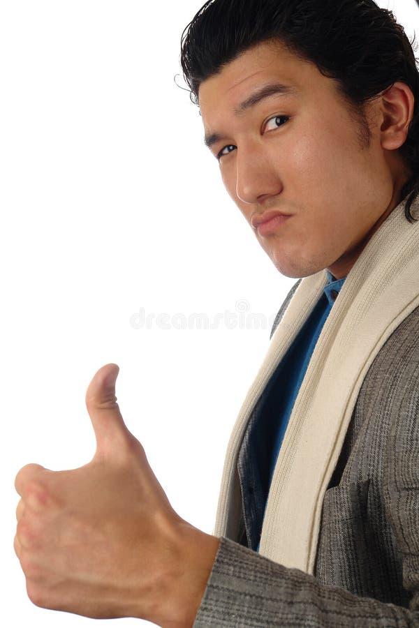 Retrato asiático do positivo do homem foto de stock