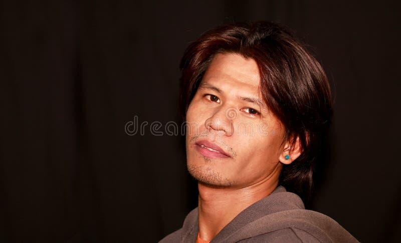 Retrato asiático joven attracive hermoso del hombre fotos de archivo