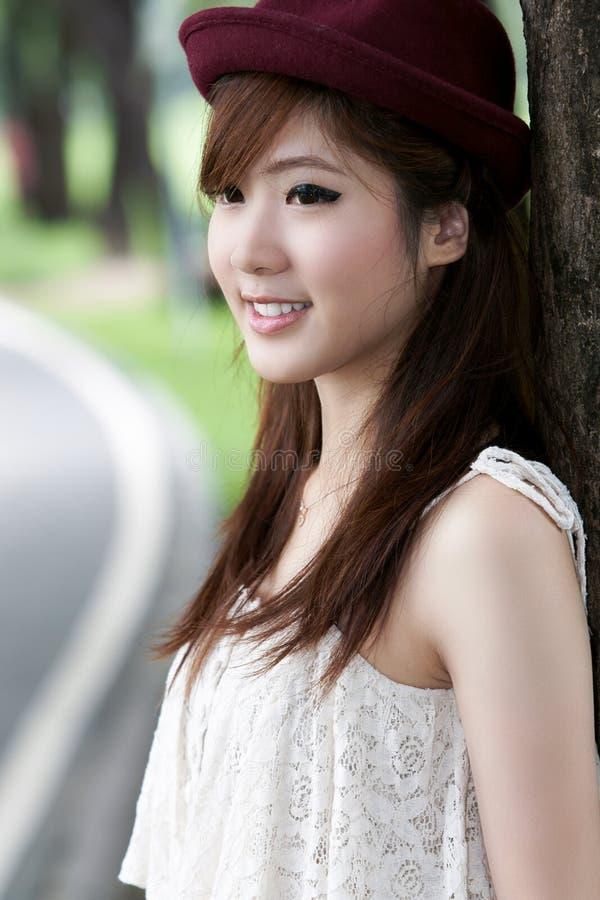 Retrato asiático lindo de la muchacha foto de archivo libre de regalías