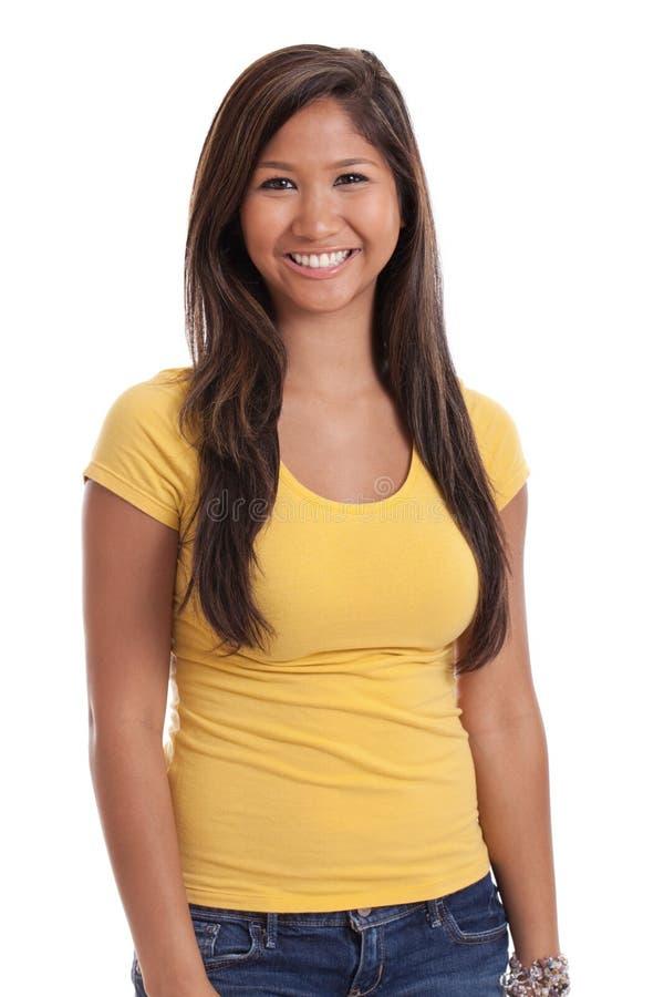 Retrato asiático novo da mulher foto de stock