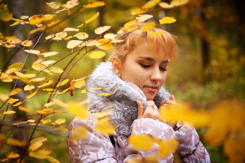 Retrato atmosférico exterior da menina bonita nova imagem de stock royalty free