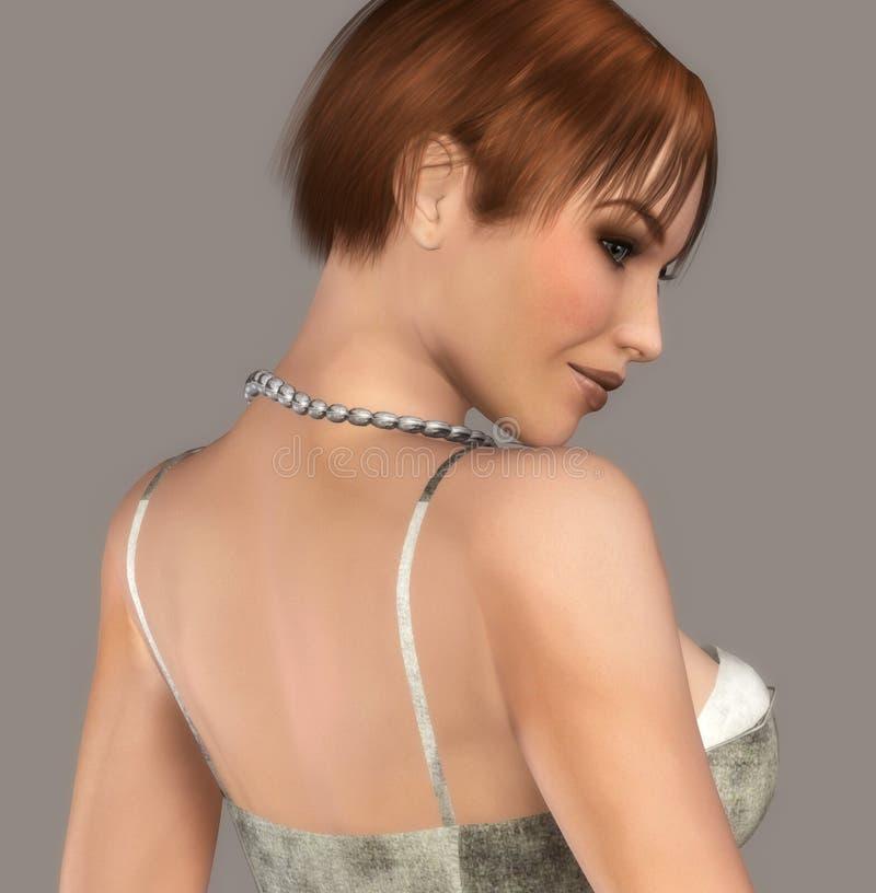 Download Retrato Atractivo De La Muchacha Stock de ilustración - Ilustración de hembra, femenino: 7280648
