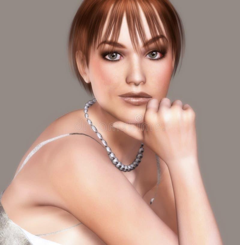 Download Retrato Atractivo De La Muchacha Stock de ilustración - Ilustración de ornamento, hermoso: 7280662
