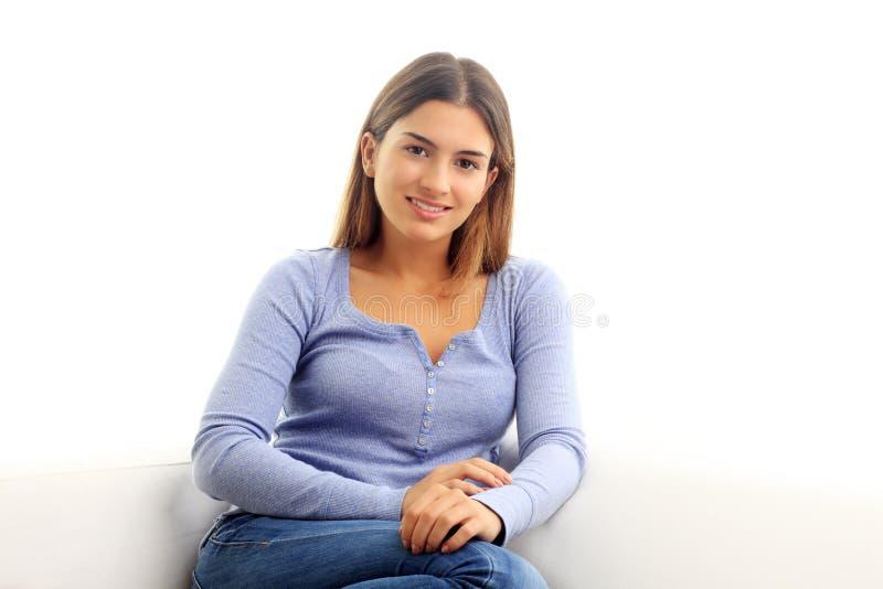 Retrato atrativo da jovem mulher fotos de stock royalty free