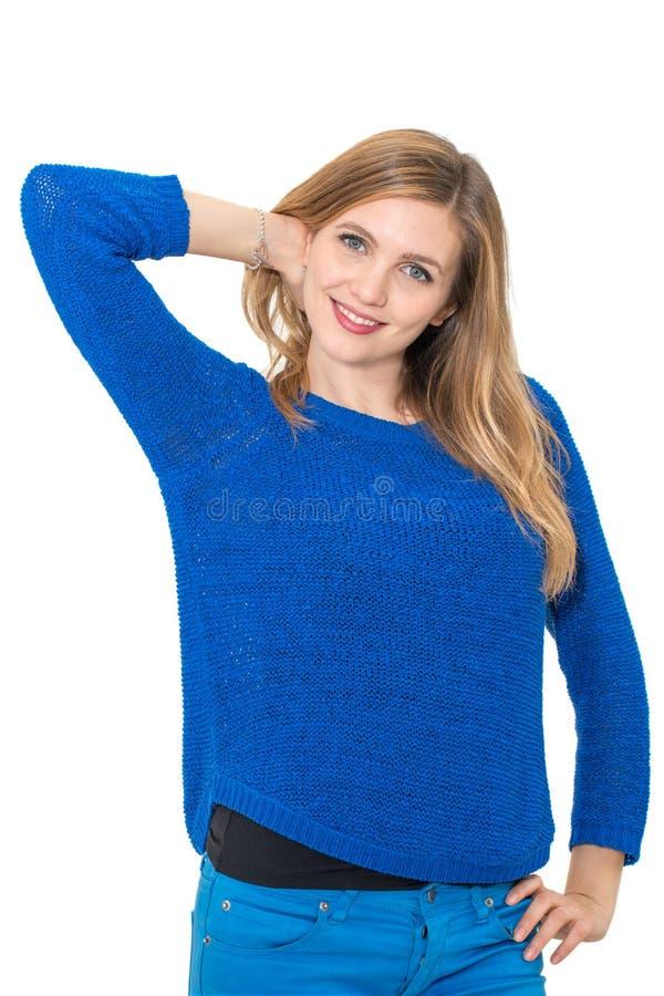 Retrato atrativo novo de sorriso da mulher fotos de stock