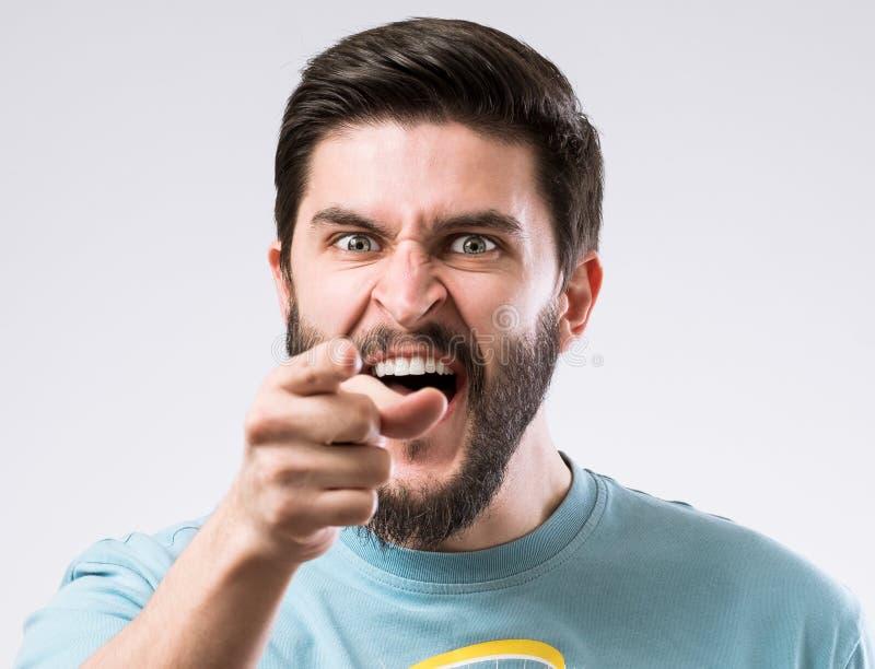 Retrato barbudo del hombre fotografía de archivo libre de regalías