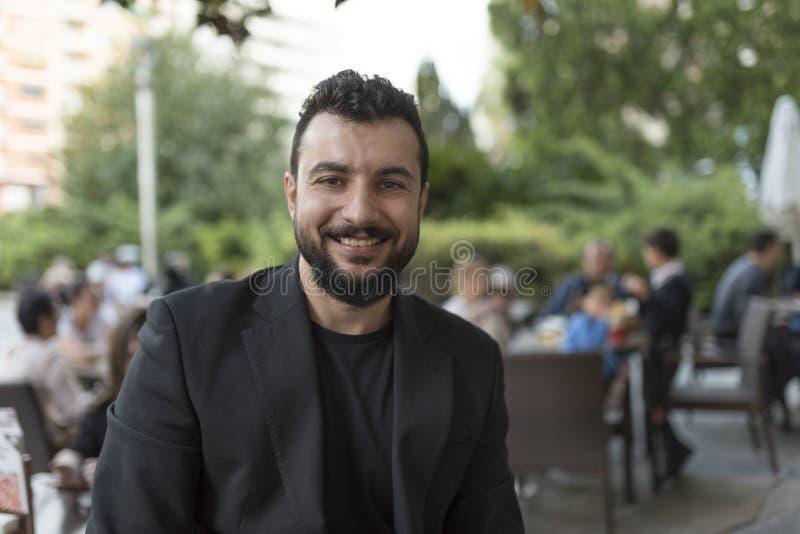 Retrato barbudo del hombre foto de archivo