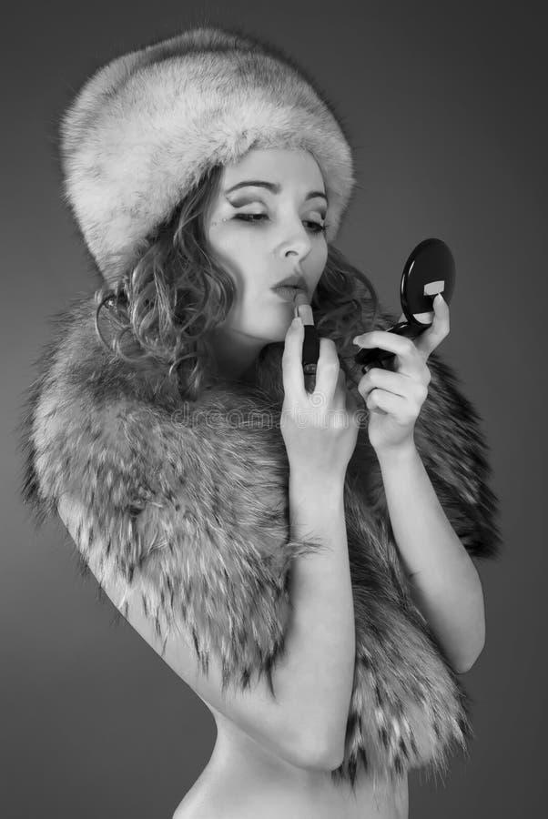 Retrato blanco y negro del estudio fotografía de archivo