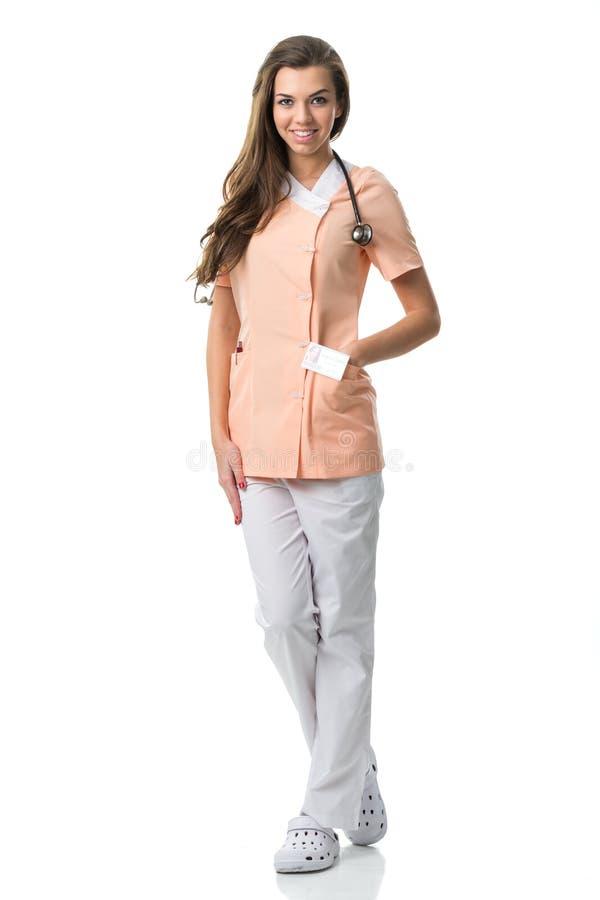 Retrato bonito da enfermeira fotografia de stock