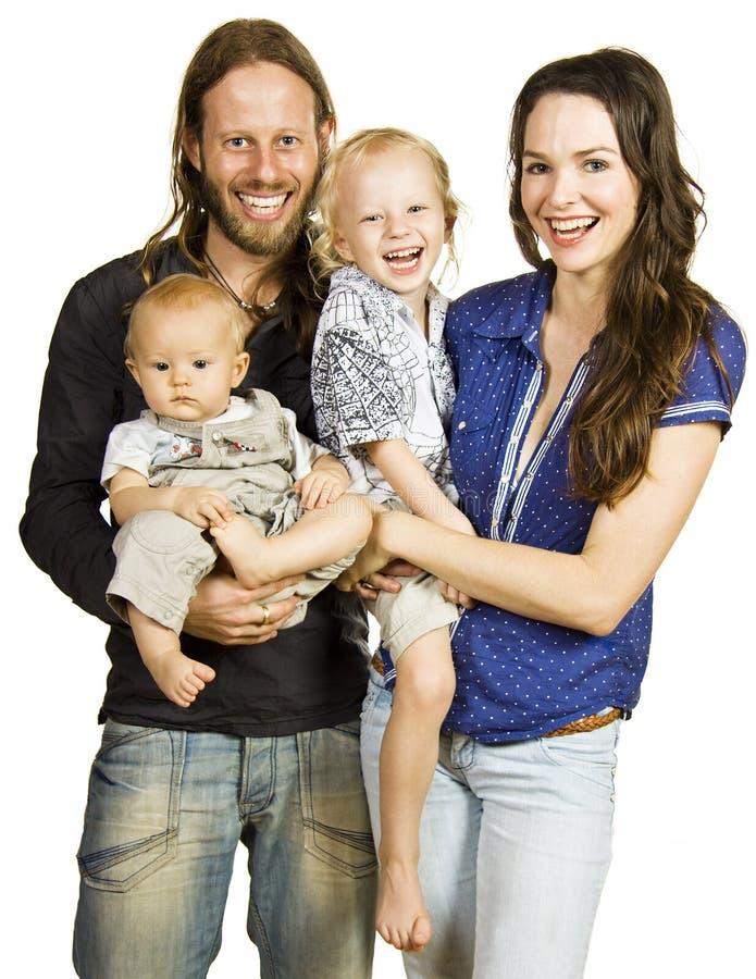 Retrato bonito da família bonita feliz imagem de stock royalty free