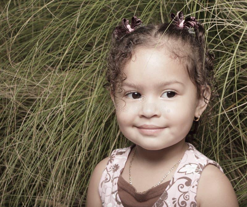 Retrato bonito da menina fotografia de stock