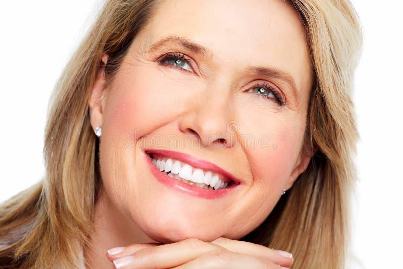 Retrato bonito da mulher. fotografia de stock