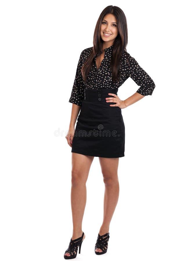 Retrato bonito da mulher de negócios foto de stock