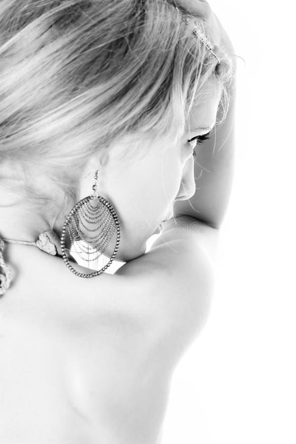 Retrato bonito da mulher, perfil imagem de stock