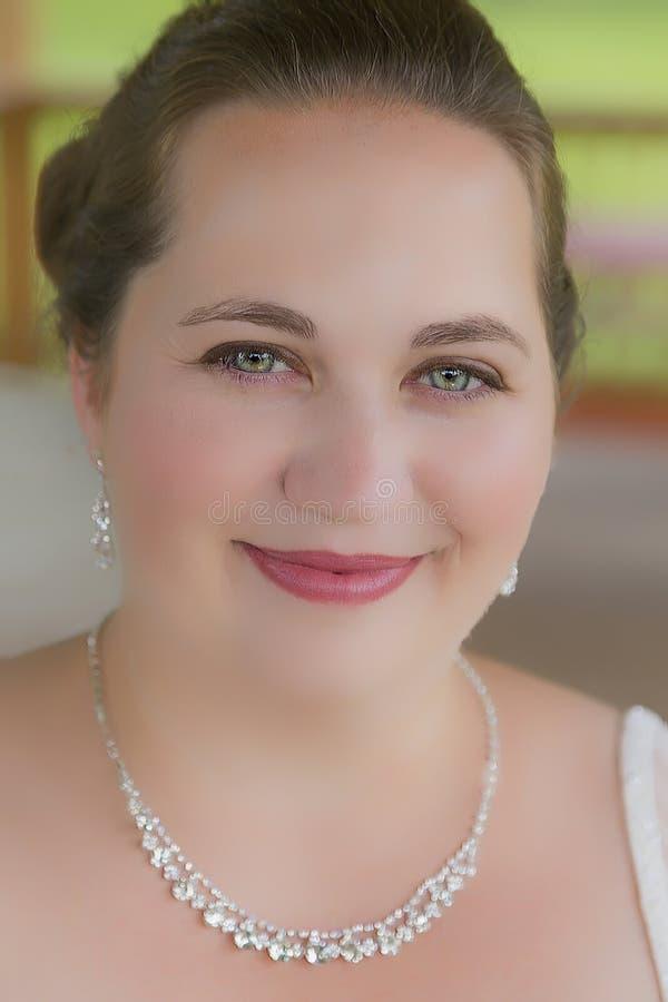 Retrato bonito da noiva fotografia de stock royalty free