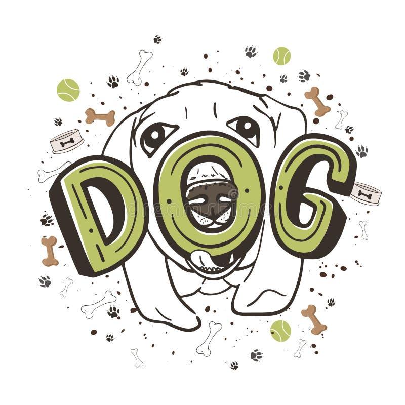 Retrato bonito de um Labrador ilustração do vetor