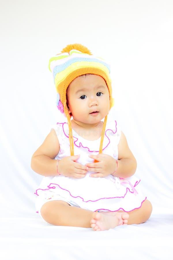 Retrato bonito do bebê do bebê fotos de stock royalty free