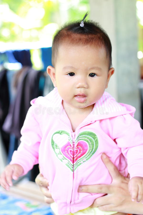 Retrato bonito do bebê do bebê foto de stock