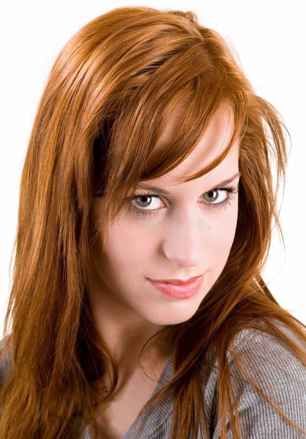 Retrato bonito do Redhead fotos de stock royalty free