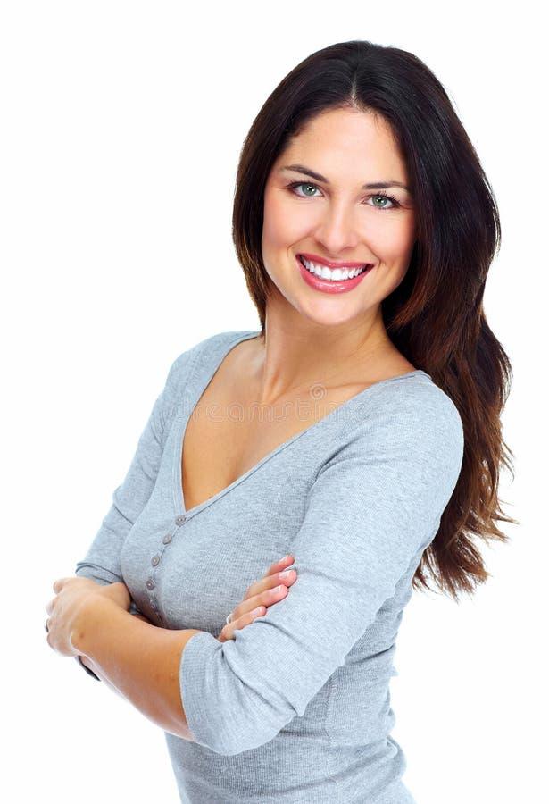 Retrato bonito novo da mulher. imagem de stock