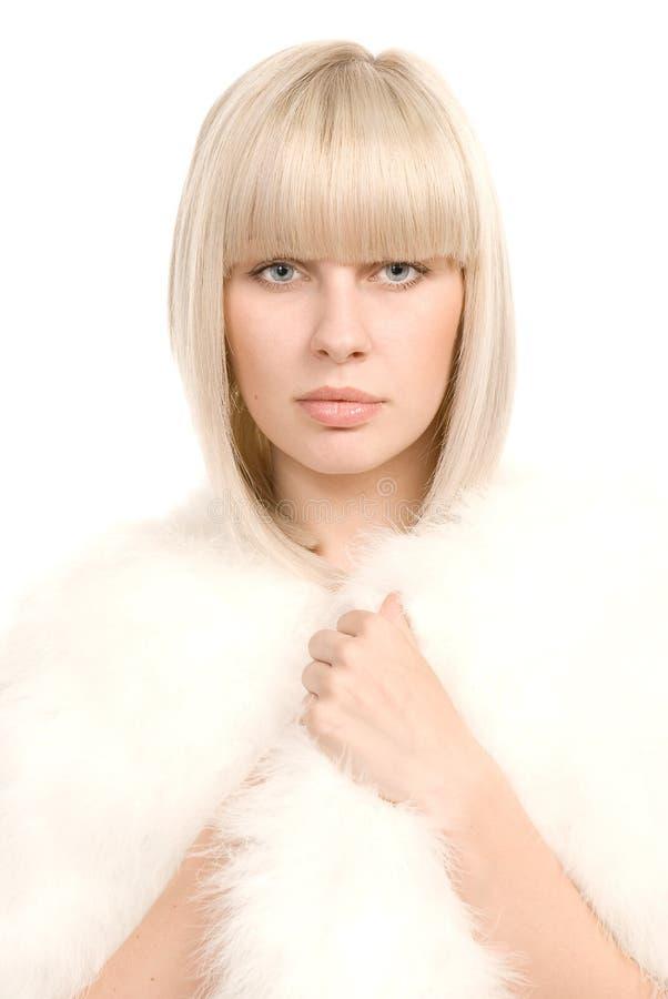 Retrato branco foto de stock