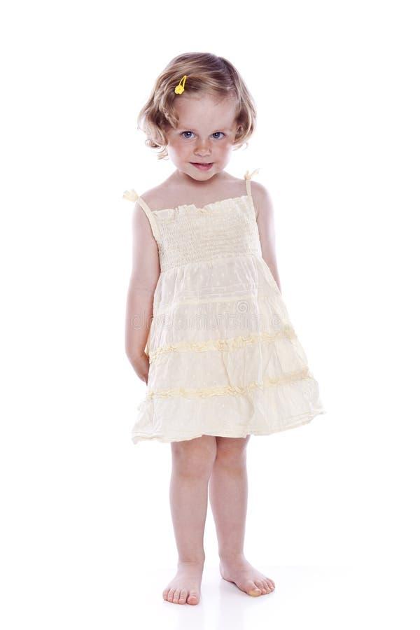Retrato brilhante do bebé no branco imagens de stock