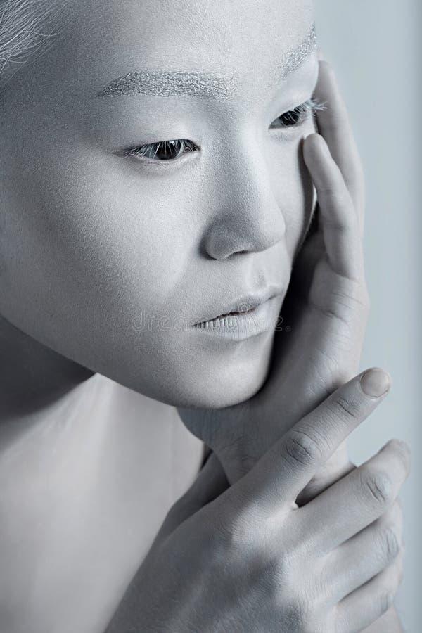 Retrato brilhante do homem de composição do estilo de Vogue Beau do homem da fetiche do encanto fotos de stock