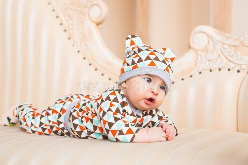 Retrato brillante del bebé adorable fotografía de archivo libre de regalías