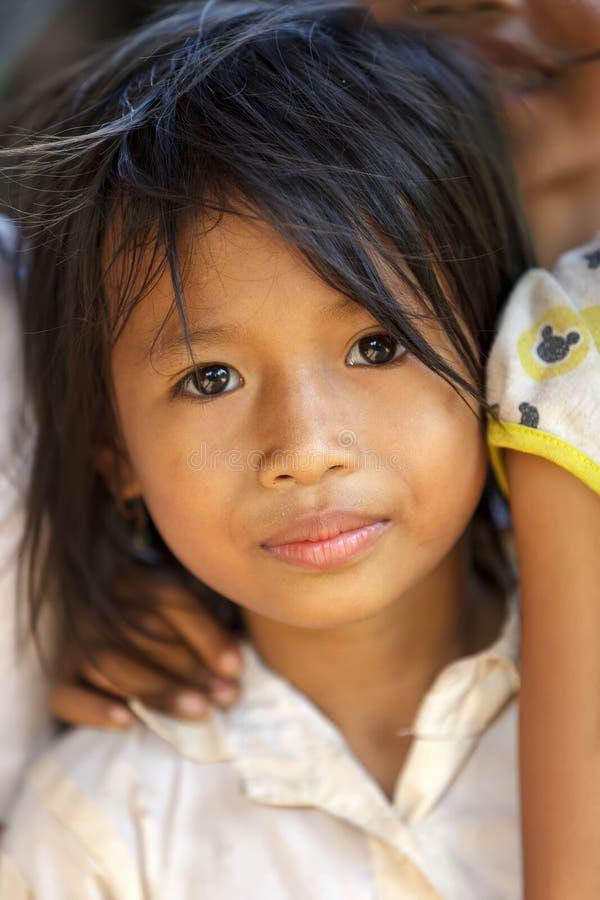 Retrato cambojano da menina foto de stock royalty free