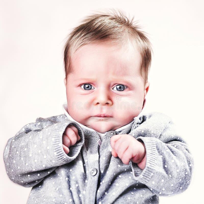 Retrato caucásico del bebé imágenes de archivo libres de regalías