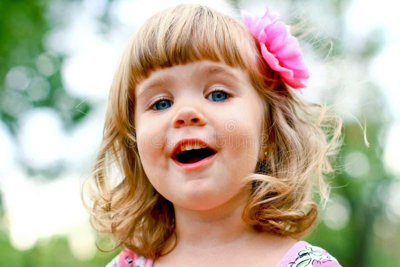 Retrato caucasiano da menina imagem de stock
