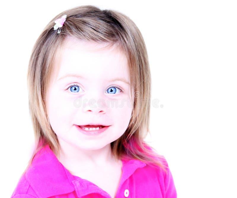 Retrato chave elevado da menina bonita imagens de stock royalty free