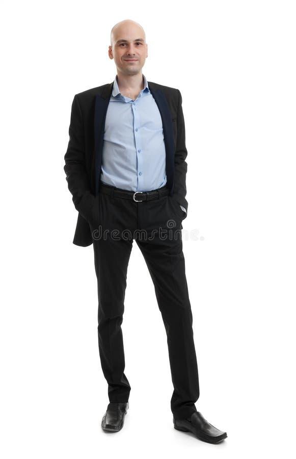 Retrato cheio do comprimento de um homem de negócios imagem de stock royalty free